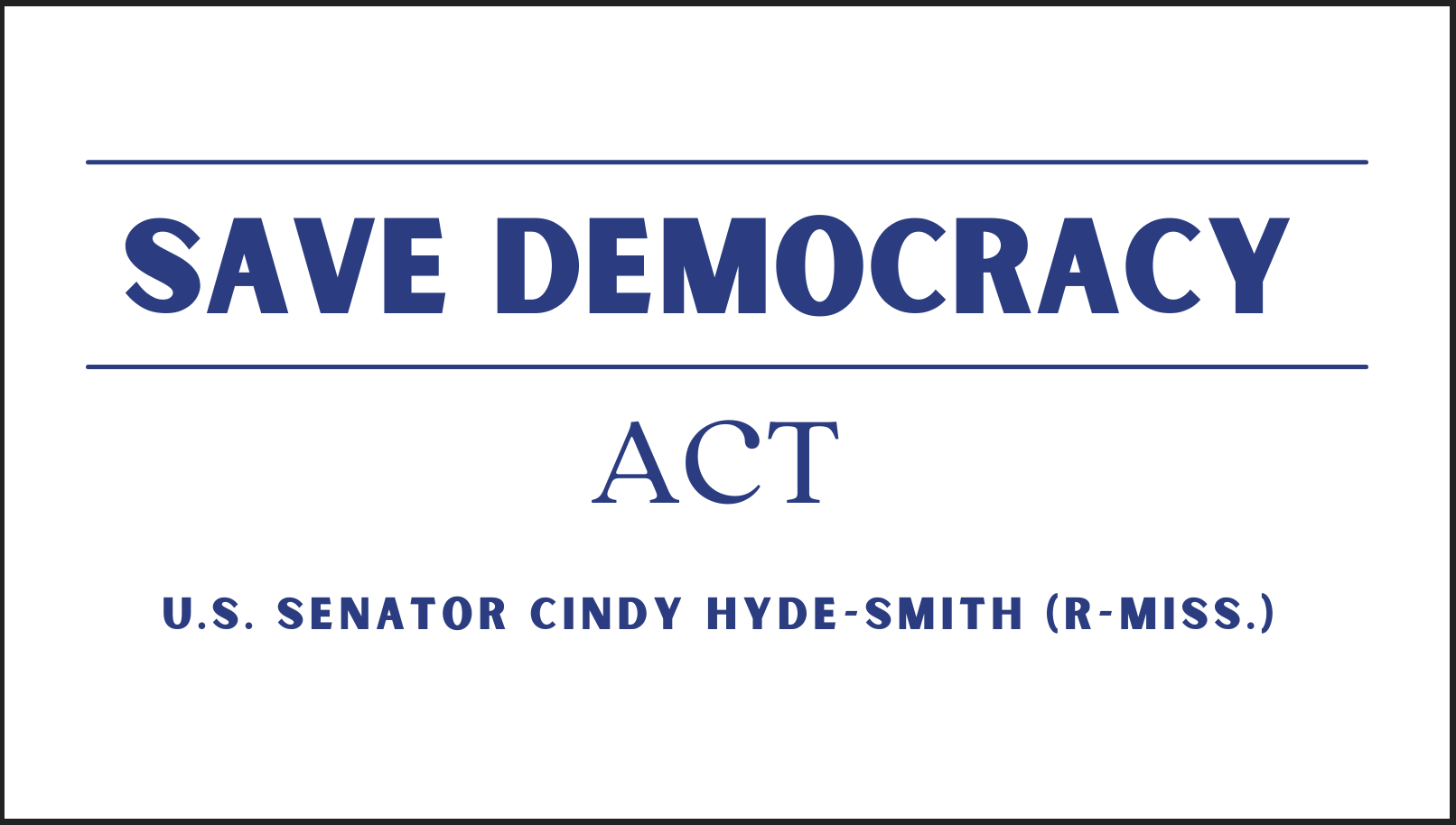 Save Democracy Act