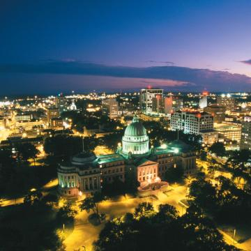 Arial photo of Jackson, MS
