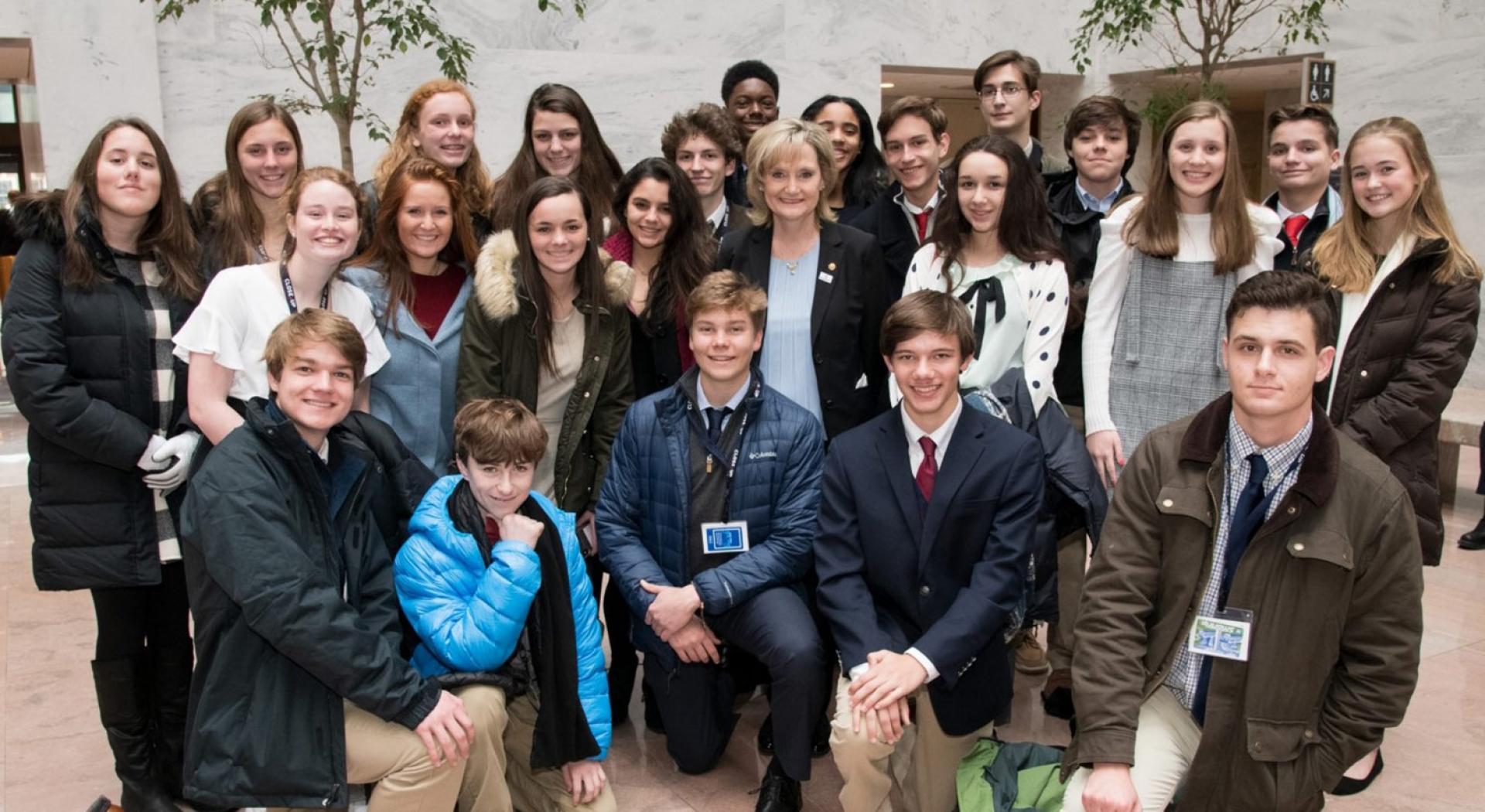 Senator Hyde-Smith meets with Sacred Heart Catholic School students